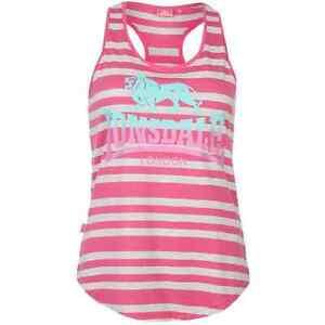 LONSDALE ladies running gym tank vest singlet yoga top 8 10 12 14 16 18 pink