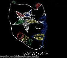 OES Afro Star Mask Rhinestone Iron on Transfer     OU5H