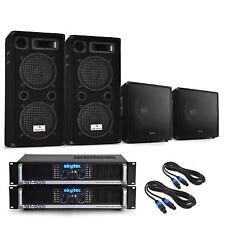 """Disco Pro Dual 12"""" Speaker Bass Bins Amplifiers 2x Amp DJ PA Equipment 3000w Max"""