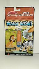 Water Wow Pad -Safari Reveal made by Melissa & Doug products