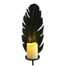 Wall Candle Sconce Metal Home Décor Leaf Shape
