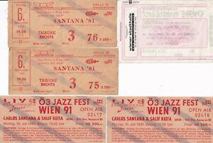 5 Eintrittskarten Konzert Carlos Santana