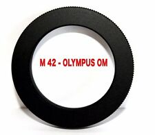 M42 - OM OBJECTIVE ADAPTER M42 Lens Adapter to -To OLYMPUS OM Camera