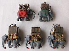 5 Painted 15mm War Elephants. Ancients. Sassanid DBM DBA FoG. Minifigs.