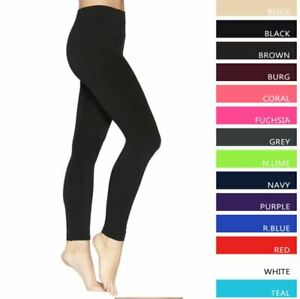 LADIES WOMENS LEGGINGS VISCOSE LYCRA PLAIN STRETCHY WITH ELASTICATED WAIST GIFTS