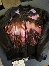 Balmain Palm Tree Print Bomber Jacket Men's Size 52 XL NWT