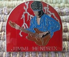 Jimmi Hendrix lapel pin pre-owned with typo Jimi James Marshall
