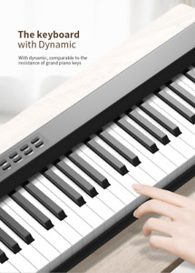 Newest 88Keys Portable Electronic Piano With Dual Speaker Soft Padded Bag PH88C
