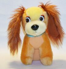 Vintage Disney Cocker Spaniel Lady And The Tramp Plush Dog Stuffed Animal 7""