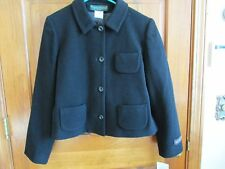 HARVE BERNARD Petites 4 Button Cashmere Blend Blazer or Jacket - Sz. 10P - BLACK