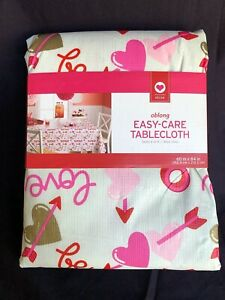 Valentine Table Cloth Brand New wipe clean (60 in by 84 in oblong)