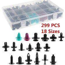 18 Sizes 299x  Plastic Push Pin Rivet Engine Splash Guard Rivet Fastener Clips