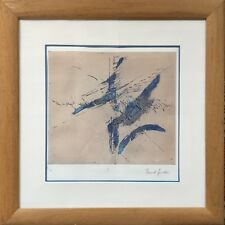 Maud GREDER 1946.Composition II.Gravure en couleurs.SBD.3/13.27x23.Cadre.