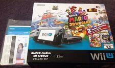 Nintendo Wii U Operation Manual & Super Mario 3d World 32gb Deluxe Set EMPTY Box
