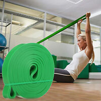 Yoga Exercise Stretch Band Resistance Loop Fit Tension Elastic Strength 15-25lb