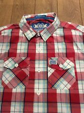 Superdry Mens Check Shirt .. XL .. Extra Large .. Red White Check