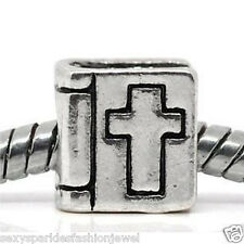 """Bible with Cross"" Charm Bead Spacer for European Snake Chain Charm Bracelets"