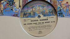 "Donna Summer She Works Hard For The Money (V Rare/N Mint) 1994 USA 12"" Promo"