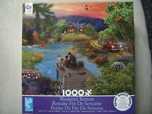 """New In Box Ceaco Weekend Retreat 1000 Piece Puzzle 26.6""""x19"""" w/Poster"""