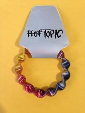 Hot Topic Rainbow Flexible Stretch Metal Bracelet New