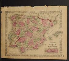 Johnson's Maps, 1864, Spain & Portugal O3#69
