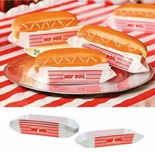 12) Red Plastic Hot Dog Holders Birthday Carnival Bbq Party Tray Plate Washable