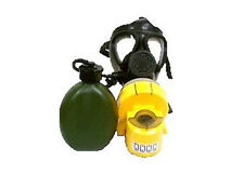 Israeli M-15 Gas Mask with Yellow Air Supply Unit and Hydration Canteen