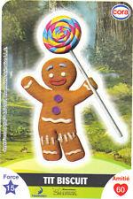 Vignette de collection autocollante CORA Dreamworks n° 102/112 - TIT BISCUIT