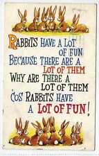 (Lw158-100)  Rabbits Have A Lot Of Fun,  1965 Used G