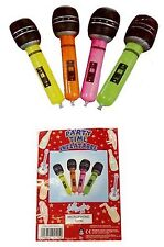 12 INFLATABLE MICROPHONES 40CM JOB LOT PARTY BAG NEW