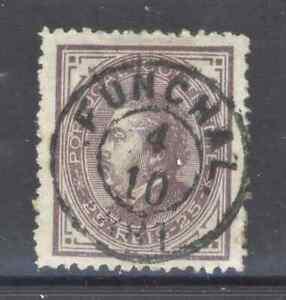 Portugal - 1880 D. Luís I, de perfil, com carimbo do Funchal, Very fine Usado
