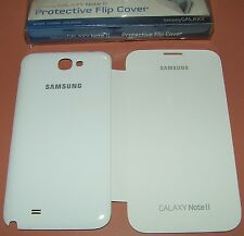 Samsung Galaxy Note II Protective Flip Cover, Gloss White back, Matte Flip front