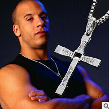 Cool Men Women Stylish alloy Hot Cross Pendant Necklace Chain Silver