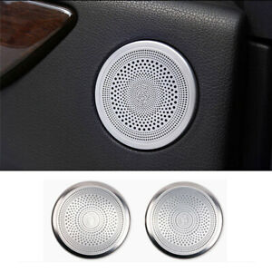 For Mercedes-Benz ML GL GLE GLS Class X166 2x Rear Door Speaker Ring Cover Trim