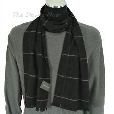 *NEW Men/'s Van Heusen Classic Black Solid Waffle Knit Winter Scarf