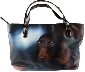 Ladies Handbag - Brown Dachshund / Sausage Dog Bag