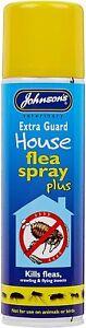 NEW Johnsons Extra Guard House Flea Spray PLUS+ 250ml