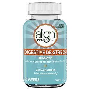 Align Probiotics with Ashwagandha, Berry Flavor, 50 Gummies / Expires - Nov 2021