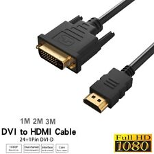 2m DVI-D 24+1 Male to HDMI Digital Cable Lead Display Video Converter Adapter UK