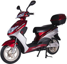 X-Treme XB-504 Electric Bicycle Scooter Moped 12 AMP Battery System  Burgundy