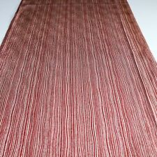 "Vintage Kimono Fabric Silk Red Brown Classic 154cm 60.5"" inches V38"