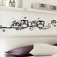 Owl Cartoon Wall Sticker Removable Art Vinyl Decal Kids Nursery Room Home Decor