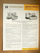 Catalogue Tracteur Chenilles TD15 INTERNATIONAL  IH Mac Cormick  Truck LKW