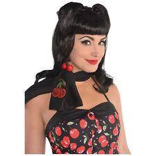 da donna, retro anni 50 rockabilly CILIEGIA CRAVATTA neckscarf ROCK ROLL DINER