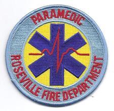 **ROSEVILLE CALIFORNIA FIRE DEPARTMENT PARAMEDIC FIRE PATCH**