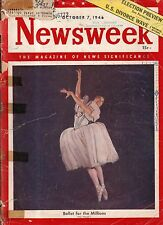 1946 Newsweek October 7 - Stalin takes over; Peron purges his Court; Benadryl