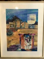 "Leslie ""Ancestors"" Original Mixed Media Art, Signed, Framed, 17 1/2"" x 24"" Image"