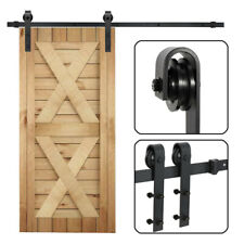 Sliding Barn Door Hardware Kit 265Lbs Modern Closet Hang Style Track Rail Black
