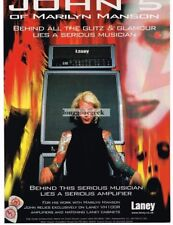 2000 LANEY Amplifiers JOHN 5 of Marilyn Manson Vtg Print Ad