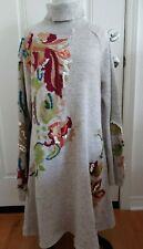 Anthropologie Knitted Knotted Embroidered Sweater Dress Size XL Read Description